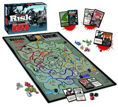 "The Walking Dead Risk Comic Edition Board Game  Features: Combines the timeless board game with today's hottest horror hit Game requires competition for vital survival resources and defense against the undead New deck of ""Supply Cards"" add strategy, fun and flavor to this classic tabletop game For 3-5 players age 13+"