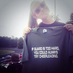 Both of my little sisters are cheerleaders. If I had this shirt, I'd put it on and wear it to every one of their practices. All three of them.