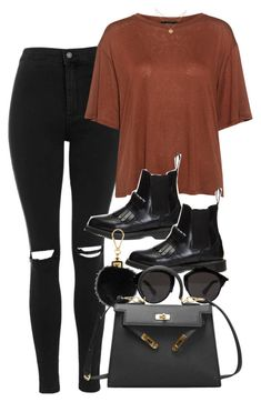 """Untitled #5068"" by olivia-mr ❤ liked on Polyvore featuring Topshop, Theory, Dr. Martens and Louis Vuitton"