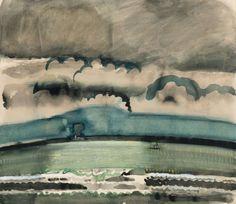 thunderstruck9:  Jean Brusselmans (Belgian, 1884-1953), Marine, 1938. Watercolour, 69.5 x 80 cm.