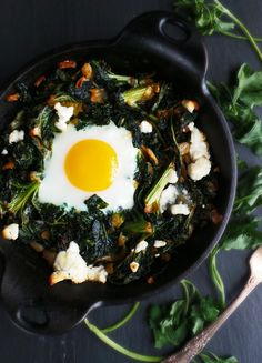Baked Breakfast Greens - 28 Creative Kale Recipes You'll Fall in Love With (Even if You Don't Like Kale)