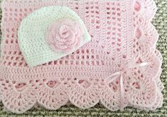 Fantastic Snap Shots Crochet baby girl gifts Suggestions Crochet delicate edge pink baby girl blanket w/ princess tiara Crochet Baby Blanket Beginner, Crochet Baby Blanket Free Pattern, Baby Girl Crochet, Crochet Baby Booties, Baby Knitting, Crochet Patterns, Free Crochet, Elephant Blanket, Pink Blanket