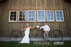 Red Cedar Farm bride and groom by Aubin Ahrens Photography