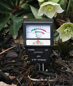 Electronic Soil Tester  Helpful garden tool to find out how well your soil supports plant growth.