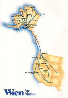 1971 - October Alaska Airlines Timetables, Route Maps, and History ...