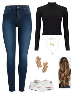 """""""fresh cut"""" by arp001580 on Polyvore featuring Miss Selfridge, Converse, Pieces, Madewell, Susan Caplan Vintage and Kenneth Jay Lane"""