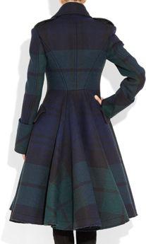 Alexander McQueen The Black Watch plaid coat
