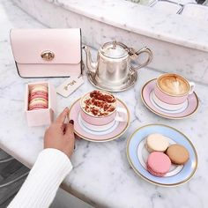 WEBSTA @ thetiafox - Sunday Pampering ✨ Enjoyed a leisurely high tea at @ladureeau 🍰, followed by makeup up at @meccamaxima 💄 and monogrammed goodies from @thedailyedited 👛! Thanks for spoiling me @chadstone_fashion! Watch my Instagram stories for BTS fun! #sundayfunday
