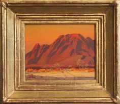 "Alfred R. Mitchell (1888-1972), Flaming Desert, 8""x10"", Oil"