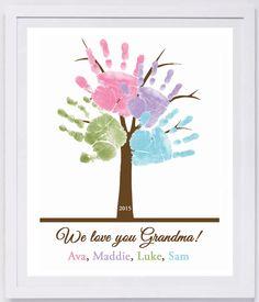 Family Tree Handprint Wall Art 801_pap by MyForeverPrints on Etsy https://www.etsy.com/listing/177458178/family-tree-handprint-wall-art-801pap