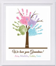 Family Tree Handprint Wall Art 801_pap by MyForeverPrints on Etsy https://www.etsy.com/listing/177458178/family-tree-handprint-wall-art-801pap