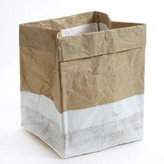 Sac de rangement en papier kraft bas blanchi Serax