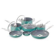 Beachy Turquoise - Buy Fiesta 11-Piece Aluminum Cookware Set in Turquoise from Bed Bath & Beyond