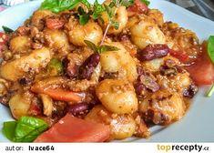 Gnocchi s mletým masem a zeleninou z jedné pánve recept - TopRecepty. Gnocchi, Meat, Chicken, Cooking, Kitchen, Brewing, Cuisine, Cook, Cubs
