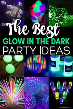 party budgeting Find over 20 Glow in the dark party ideas that are easy and budget friendly. Your next party will be fabulous with these glow in the dark party decorations. Glow In Dark Party, Glow Stick Party, Glow Sticks, Glow Party Food, Neon Birthday, 13th Birthday Parties, Birthday Party Themes, Birthday Ideas, 12th Birthday