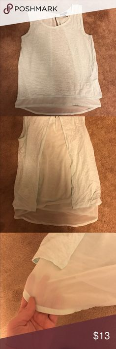 Gap sheet back tank top! Teal colored tank top. The back is really pretty and sheer! Would be cute under a jean jacket. GAP Tops