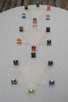 Aura Soma - compositie Diamant boom van Chatzebugel