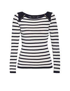Morgan Damen Sweatshirt 151-MRAYZI.M, Gestreift: Amazon.de: Bekleidung