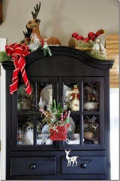 farmhouse christmas top of hutch: BPM
