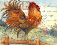 Le Rooster art print by Susan Winget