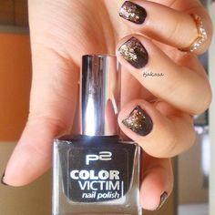 "P2 ""eternal"" #tjakasasnails #schwarz #black #p2 #drogerie #dm #nagellack #nailpolish #beauty #naillacquer #notd #nails"