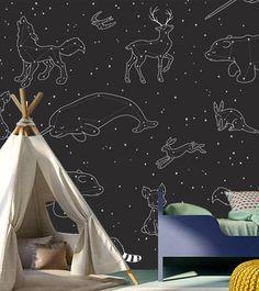 Wallpaper  Animals in the Stars by LeeluStudios on Etsy
