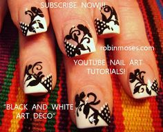 Lace nail art - via Robin Moses Nail Art