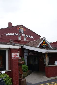 Anchor Bar, Buffalo NY.  Home of the original buffalo wings!  I'd never had them before...so now I'm spoiled.  No one makes them like they do. :)