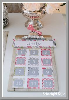 Vintage Chic Pink Classroom Couture - by Melanie Ralbusky of Schoolgirl Style. I love the whitewash workstation shelf paper. I'd put some moss greens and blues with it to balance out the equity of colors for the boys in the classroom.