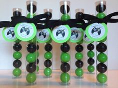GameTruck,  Video Gaming Party Gumball Tube Party Favors, Personalized with Tags and Ribbon, Set of 12 by EnchantedKidsParties on Etsy