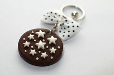 pan di stelle keychain- gift idea, handmade
