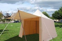 Square Slant Wall Tent 9ft WHITE 2 ZIP  an affordable tent designed with merchants in mind? just under 300 bucks... could be fancied-up D.I.Y.