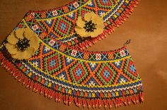 Колье из бисера.  Бисероплетение.  Мастер класс /  Necklaces of beads