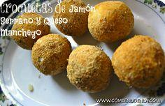 Croquetas de Jamón Serrano y Queso Manchego | Comiendo en LA