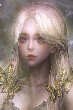 Dark Fantasy Art, Fantasy Girl, Fantasy Artwork, Japonese Girl, 8bit Art, Digital Art Girl, Anime Angel, Beautiful Anime Girl, Anime Art Girl