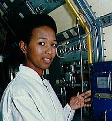 Mae Carol Jemison is an American physician and NASA astronaut. She became the first black woman to travel in space when she went into orbit aboard the Space Shuttle Endeavour on September 12, 1992.