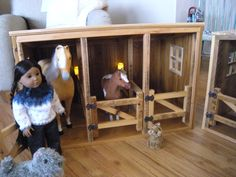 Horse Stable for American Girl Doll - for Saige via Etsy