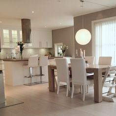 34 veces he visto estas grandes cocinas abiertas. Kitchen Room Design, Modern Kitchen Design, Home Decor Kitchen, Interior Design Kitchen, Kitchen Living, Home Kitchens, Kitchen Wood, Living Room Interior, Living Room Decor