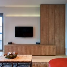 Living Room Tv, Home And Living, Interior Exterior, Interior Design, Small Bedroom Interior, Living Room Storage, Living Room Designs, Bungalow, Family Room