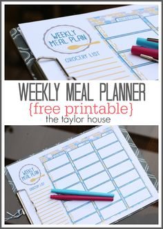 Grocery Meal Planner Photo with description: Save money this summer with a weekly meal plan and VisaClearPrepaid AD