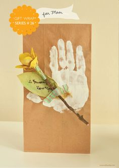 willowday: Gift Wrap Series #26: Hand Print Gift Wrap -- Mother's Day Inspired