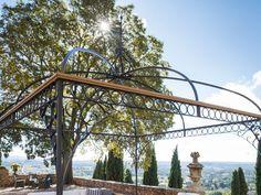 Tibisco - Unopiù #unopiù #outdoor #design #furnitures #terrace #garden #pavilion Garden Pavilion, Terrace Garden, Terrace Building, Attached Pergola, Furnitures, Gazebo, Buildings, Shed, Fair Grounds