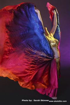 Akai Silks - large half circle silk veils. Absolutely stunning in person too.