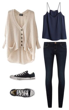 """cute teen"" by emmasspam ❤ liked on Polyvore featuring Dorothy Perkins, Converse and H&M"