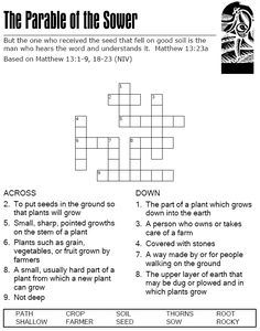The Parable of the Sower - Crossword Puzzle