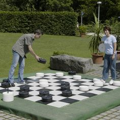 King Me! A Set of 24 Large Checker Pieces for Indoor or Outdoor Games
