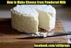 How to Make Cheese from Powdered Milk - SHTF, Emergency Preparedness, Survival Prepping, Homesteading