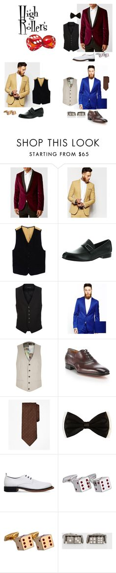 """High Rollers"" by leena-mcruum on Polyvore featuring Noose & Monkey, ASOS, Ann Demeulemeester, Venettini, Tom Ford, River Island, Santoni, Brooks Brothers, Barneys New York and Paul Smith"
