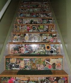 Redecorate Your Home in London on a Budget — MediumDecoupaged Wooden Staircase