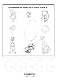 Písmenká - pracovné listy - prváci
